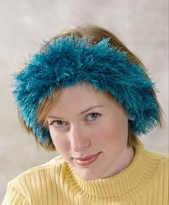 Blue Fuzzy Ear Warmer