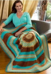 Colorful Twists and Turns Crochet Throw