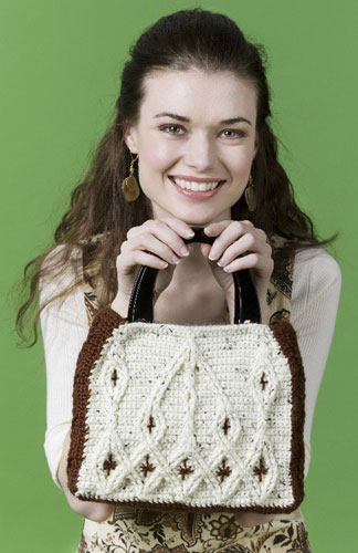 Crochet Cable Purse