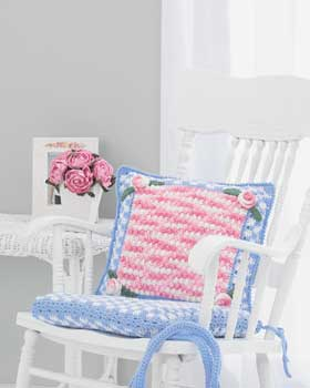 Crochet Checked Chair Pad