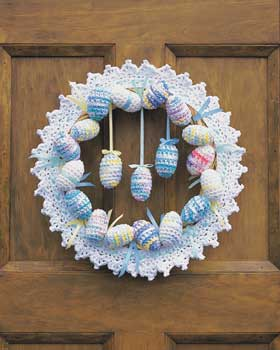 Crochet Easter Eggs Wreath