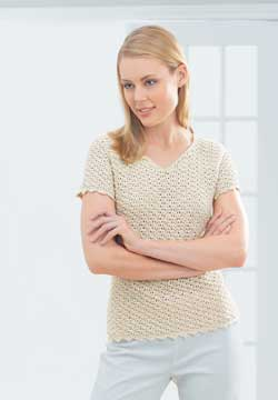 Crochet Picot Edge Shirt