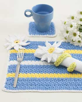 Crochet Daisy Place Setting