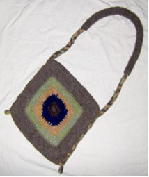 Felted Sunflower Crochet Purse