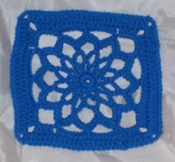 Floral Pattern Crochet Square