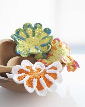 Crochet Flower Dish Cloths