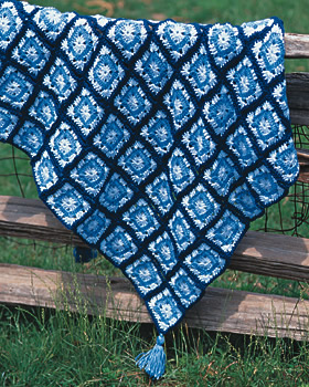 Granny Square Crochet Throw