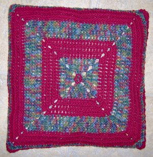 Granny Gee's Crocheted Pillow Cover