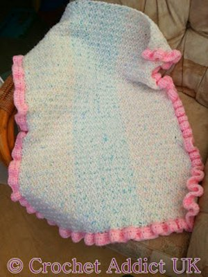 Ruffled Bubblegum Baby Blanket