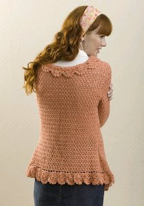 Ruffled Crochet Cardigan 2
