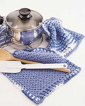 Simple Pot Holder and Dishcloth