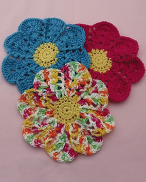 Blooming Flower Dish Cloths