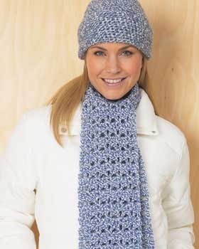 Blue Hat and Scarf Set