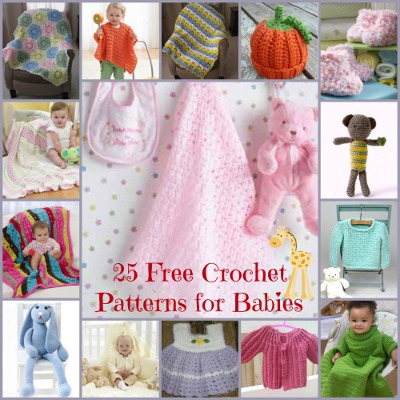 25 Free Crochet Patterns for Babies