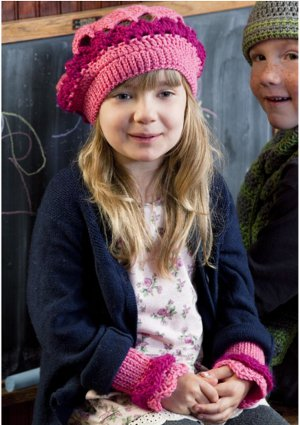 Strawberry Beret and Wrist Warmers