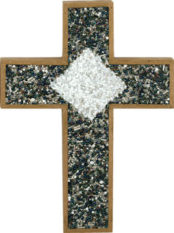 Beaded Inset Cross
