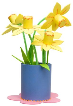 Craft Daffodils in Vase