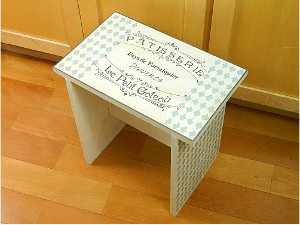White Hot Kitchen Stool