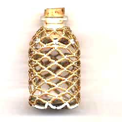 Beaded Bottle Finished Product