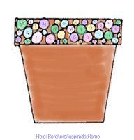 Decorative Clay Pot with buttons