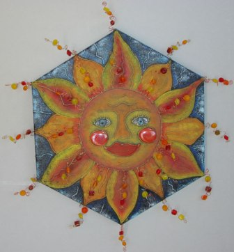 Glue Embossed Sun Burst