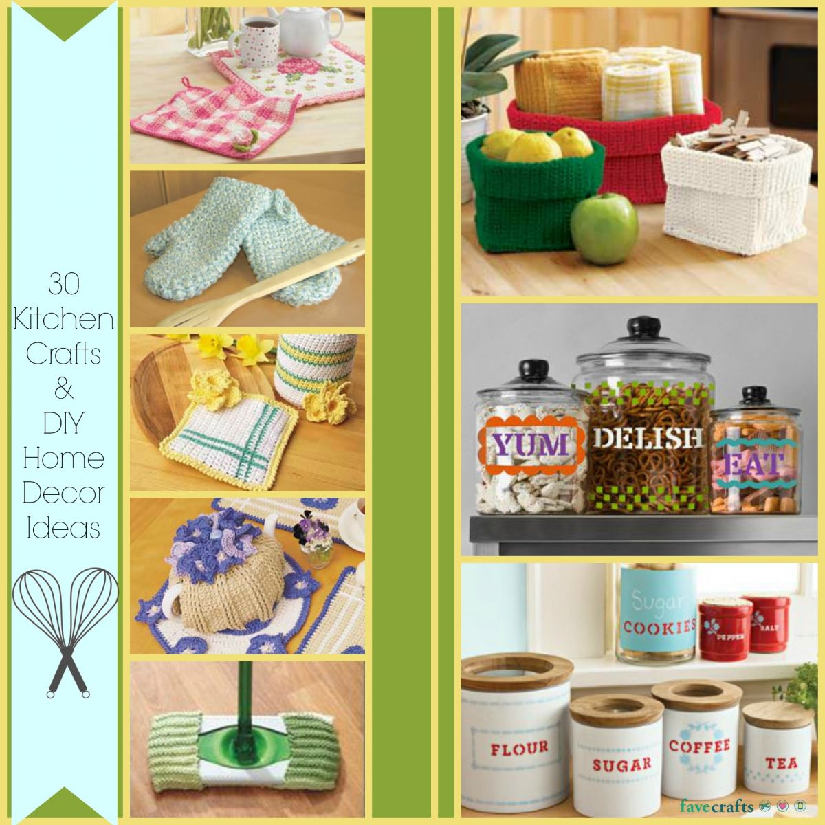 craft ideas home 30 kitchen crafts and diy home decor ideas favecrafts 1542