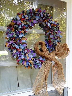 multi colored wreath