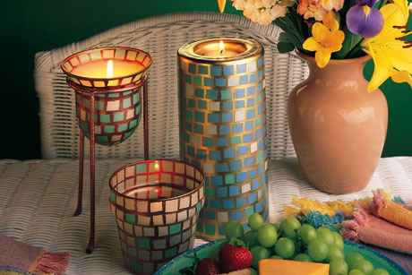 Pearly Garden DIY Votives