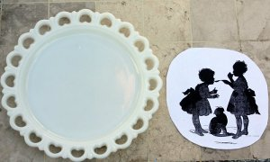 vintage silhouette plate