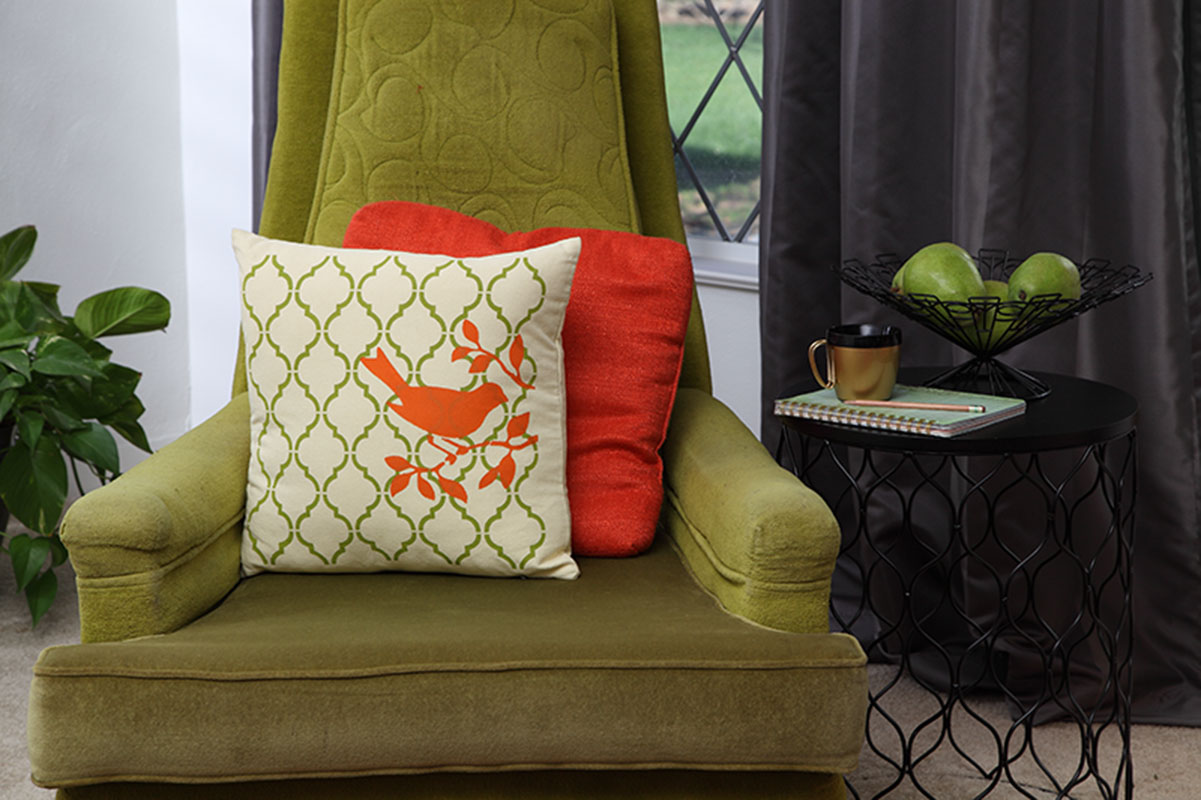 Perfectly Perched Throw Pillow