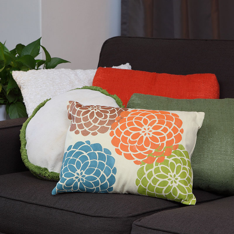 Autumn Dahlias Pillow