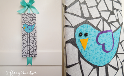 Fabric Bird Mosaic