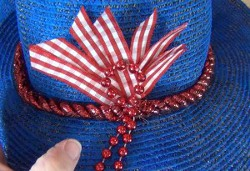 Refashioned Fourth of July Hat
