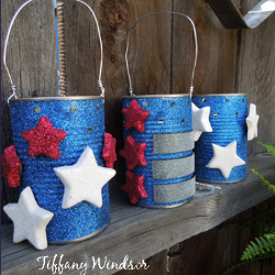 Repurposed Patriotic Luminaries