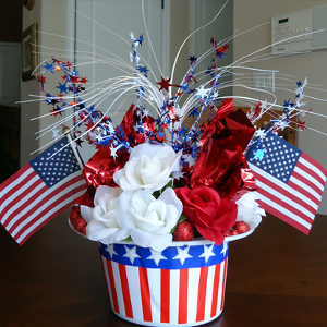 Patriotic Hat Centerpiece
