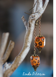Dangly Animal Print Earrings