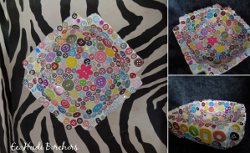 Colorful Upcycled Button Bowl