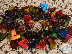 Polymer Clay Heart Charms Bracelet