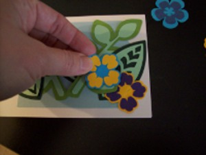 Arranging flowers for Tropical Flowers Greeting Card