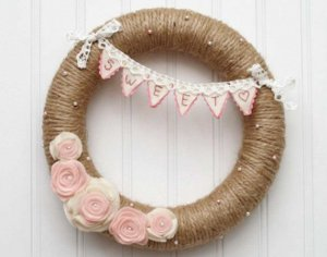 Charming Valentine's Day Wreath