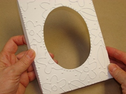 Look of Embossing with Glue Frame