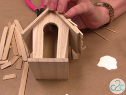 Wooden Birdhouse Cottage