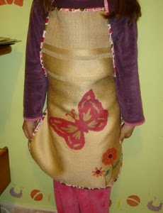 Hand Painted Apron for Kids