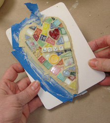 Mosaic Heart Plaque