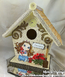 Pretty Painted Birdhouse
