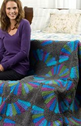 Crochet a Fan Throw