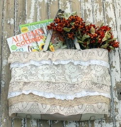 Vintage Style Lace Tote