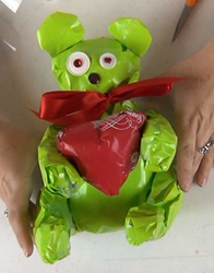 Teddy Bear Wrapping Paper Sculture