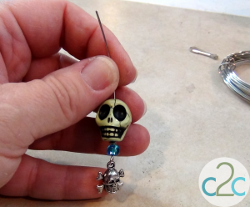 Beaded Pirate Zipper Pull