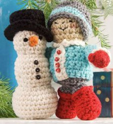 Amigurumi Snowman & Friend